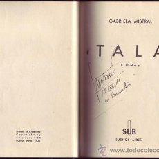 Libros antiguos: TALA. POEMAS. GABRIELA MISTRAL.. Lote 27482772