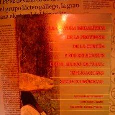 Libros antiguos: LA CULTURA MEGALITICA DE LA PROVINCIA DE LA CORUÑA. Lote 25689590
