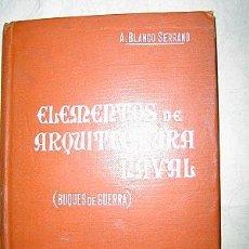 Libros antiguos: C. 1905 ARQUITECTURA NAVAL ( BUQUES DE GUERRA). Lote 26189032