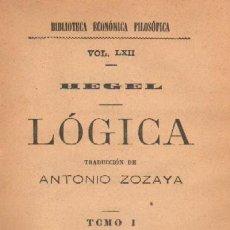 Libros antiguos: LOGICA (CUATRO TOMOS EN UN VOLUMEN) (A-FIL-526). Lote 18712810