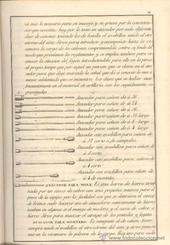 Libros antiguos: 1853 DICCIONARIO ILUSTRADO DE ARTILLERIA - Foto 4 - 26270489