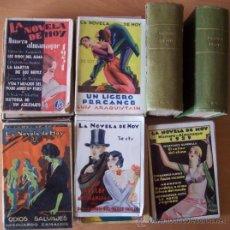 Libros antiguos: LOTE DE 69 NOVELAS DE LA COLECCION LA NOVELA DE HOY DE LOS AÑOS 1920-1930 - VER RELACION DE TITULOS. Lote 26614000