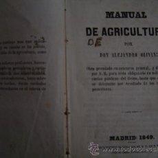 1849 MANUAL DE AGRICULTURA ALEJANDRO OLIVAN