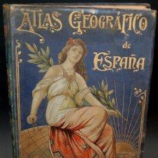 Libros antiguos: (ATLAS GEOGRÁFICO DE ESPAÑA) POR BENITO CHIAS.1900. CON 42 CARTAS COROGRÁFICAS. Lote 26816057