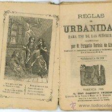 Libros antiguos: REGLAS DE URBANIDAD PARA USO DE LAS SEÑORITAS AÑO 1885 LIBRERÍA DE LA VDA E HIJOS DE R. MARIANA. Lote 13172968