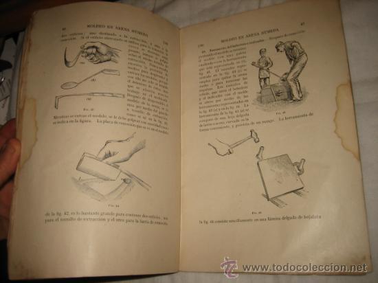 Libros antiguos: MOLDEO EN ARENA HUMEDA PARTE 1ª CUADERNO DE ESTUDIO CON CUESTIONARIO DE EXAMEN ENSEÑANZA POR CORRESP - Foto 2 - 13181873