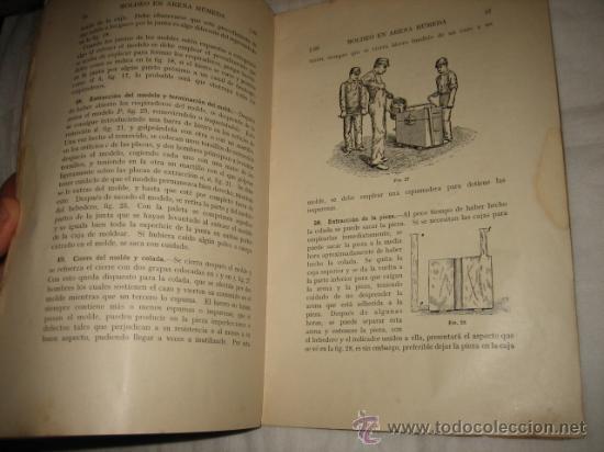 Libros antiguos: MOLDEO EN ARENA HUMEDA PARTE 1ª CUADERNO DE ESTUDIO CON CUESTIONARIO DE EXAMEN ENSEÑANZA POR CORRESP - Foto 3 - 13181873