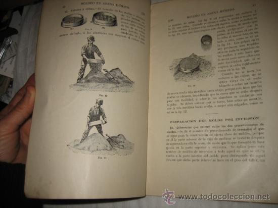 Libros antiguos: MOLDEO EN ARENA HUMEDA PARTE 1ª CUADERNO DE ESTUDIO CON CUESTIONARIO DE EXAMEN ENSEÑANZA POR CORRESP - Foto 4 - 13181873