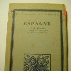 Libros antiguos: 8612 AZORIN ESPAÑA - ESPAGNE EDICION FRANCESA ENUME AÑO 1929 - MIRA MAS EN MI TIENDA COSAS&CURIOSAS. Lote 25491088