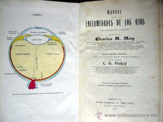 Libros antiguos: MANUAL de las ENFERMEDADES de los OJOS, por CHARLES H. MAY, 1922 - Foto 2 - 26186145
