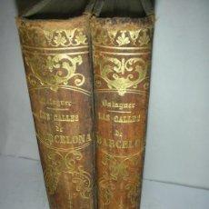 Libros antiguos: LAS CALLES DE BARCELONA, VICTOR BALAGUER, 1865,. Lote 26618587