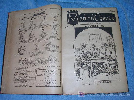 Libros antiguos: MADRID COMICO-AÑOS 1892-1893 COMPLETOS-EXCEPCIONAL. - Foto 3 - 26815916