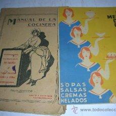 Libros antiguos: MANUAL DE LA COCINERA Y EL MENU DEL DIA , COCINA. Lote 26969283