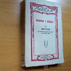 Libros antiguos: PATRONOS Y OBREROS - JOAQUIN AZPIAZU - BIBLIOTECA RAZÓN Y FE Nº 25 - AÑO 1933 - 215 PÁGINAS. Lote 24612872
