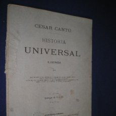 Libros antiguos: HISTORIA UNIVERSAL ESCRITA POR CESAR CANTU. Lote 13761307