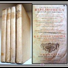 Libros antiguos: INSTRUCTISSIMA BIBLIOTHECA MANUALIS CONCIONATORIA TOBIAE LOHNER 1756 OBRA COMPLETA GRAN TAMAÑO. Lote 27528006