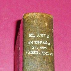 Libros antiguos: ENCUADERNACION DE LOS VOLUMENES 15, 25, 33 Y 34 DE EL ARTE EN ESPAÑA.. Lote 26782094