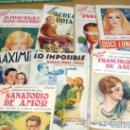 Libros antiguos: LOTE 8 EJEMPLARES DE NOVELA ROSA. AÑOS 30 Y 40. PORTES GRATIS.. Lote 16806225
