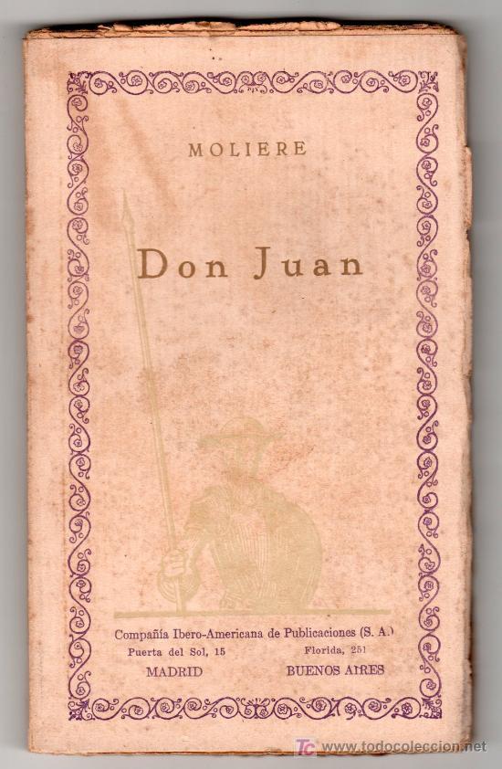 DON JUAN POR MOLIERE. COMPÑIA IBERO AMERICANA DE PUBLICACIONES MADRID VOL 41. MADRID (Libros Antiguos, Raros y Curiosos - Literatura - Otros)