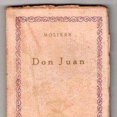 Libros antiguos: DON JUAN POR MOLIERE. COMPÑIA IBERO AMERICANA DE PUBLICACIONES MADRID VOL 41. MADRID. Lote 14308796