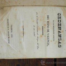 Libros antiguos: ORDENANZAS DE LAS ACEQUIAS DEL REINO DE VALENCIA. 1846.. Lote 17593605