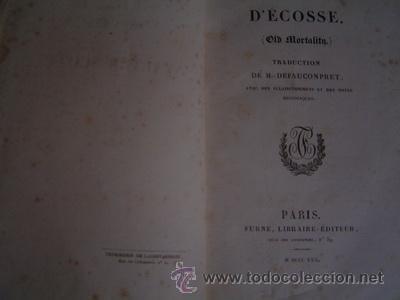 Libros antiguos: 1830 LOS PURITANOS DE ESCOCIA WALTER SCOTT EN FRANCES - Foto 2 - 26402786