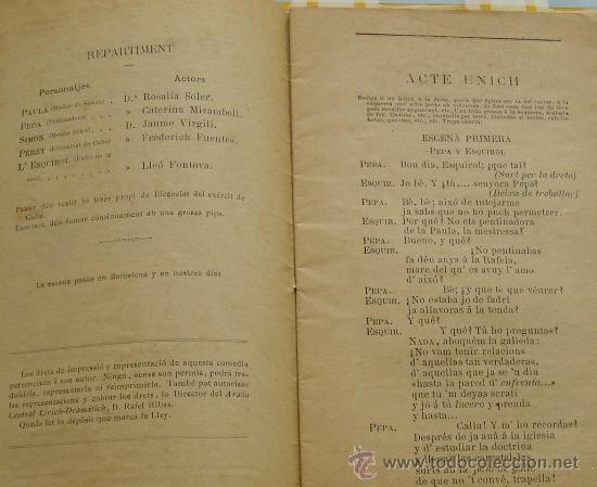 Libros antiguos: Barcelona 1881 CERCOL DE BOTA .. Capritxo comich de Joan Molas * Folleto teatral en CATALAN - Foto 2 - 14348964