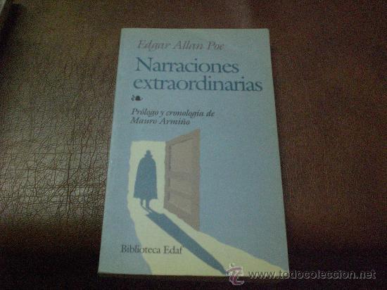 NARRACIONES EXTRAORDINARIAS DE EDGAR ALLAN POE (Libros Antiguos, Raros y Curiosos - Literatura - Otros)