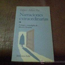 Libros antiguos: NARRACIONES EXTRAORDINARIAS DE EDGAR ALLAN POE. Lote 25894492