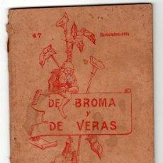 Libros antiguos: DE BROMA Y DE VERAS GUERRA CON ANIMALES. ED. EL MENSAJERO CORAZON DE JESUS. BILBAO 1914. Lote 14448488