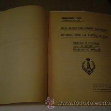 Libros antiguos: 1920 METODO PARA APRECIAR RAPIDAMENTE DISTANCIAS DESDE LAS BATERIAS DE COSTA. Lote 24332209