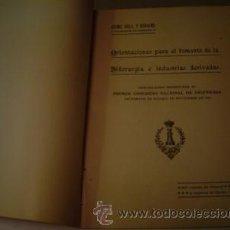 Libros antiguos: 1920 ORIENTACIONES PARA EL FOMENTO DE LA SIDERURGIA E INDUSTRIAS DERIVADAS. Lote 142162194