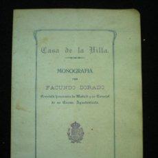 Libros antiguos: MADRID. CASA DE LA VILLA. MONOGRAFÍA. MADRID, 1913.. Lote 14530554