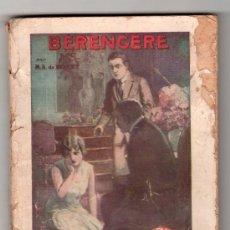 Libros antiguos: COLLRCTION FAMA Nº 187.BERENGERE PAR AUDEBERT DE BOVET. EDITION LA MODE NATIONALE. PARIS 1929. Lote 14538083