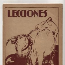 Libros antiguos: LECCIONES Nº 1. EL BUEY. EDITORIAL SALVATELLA.. Lote 23851451