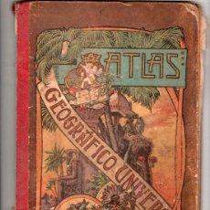 Libros antiguos: ATLAS GEOGRAFICO UNIVERSAL POR JOSE PALUZIE Y LUCENA. EDITORES HIJOS DE PALUZIE. BARCELONA 1903. Lote 14660672