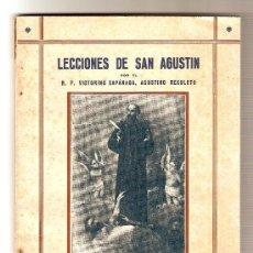 Libros antiguos: LECCIONES DE SAN AGUSTÍN .- VICTORINO CAPÁNAGA. Lote 27269740