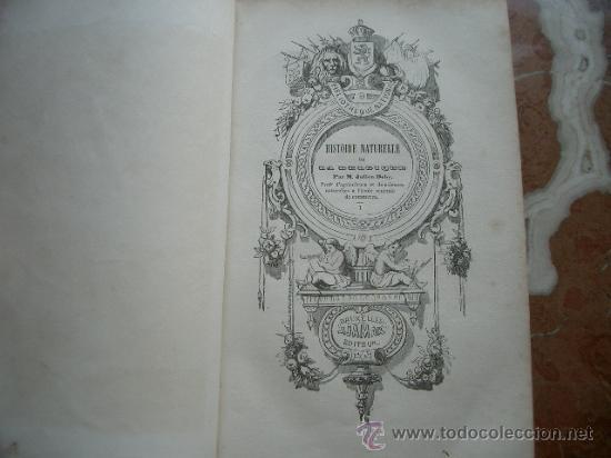 Libros antiguos: Historia natural de Bélgica HISTOIRE NATURELLE DE LA BELGIQUE - Foto 3 - 24540266