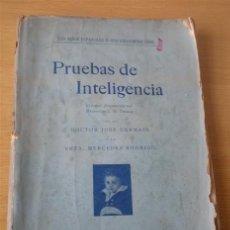 Libros antiguos: PRUEBAS DE INTELIGENCIA 1930. Lote 26486621