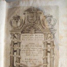 Libros antiguos: 1620 - REDVCTION DE LAS LETRAS... JUAN PABLO BONET. TORRES DE BERRELLÉN.ZARAGOZA.ORIGINAL. Lote 26573177