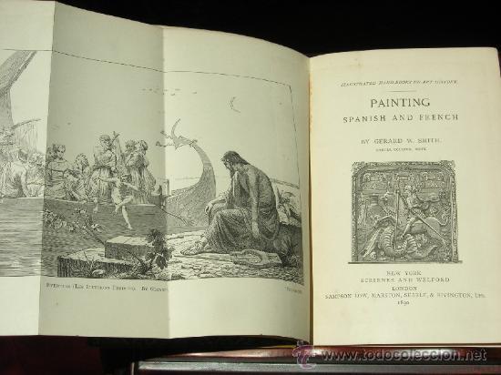 Libros antiguos: 1890 - GERARD SMITH - PAINTING SPANISH AND FRENCH - PRECIOSAS ILUSTRACIONES - Foto 2 - 27137050