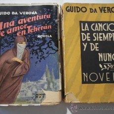 """Libros antiguos: 2 LIBROS """"GUIDO DA VERONA"""" AÑOS 1929 Y 1932. Lote 16380714"""
