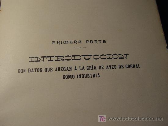 Libros antiguos: AVICULTURA INDUSTRIAL - GALLINAS PATOS GANSOS PAVOS Y PINTADAS - BARCELONA 1911 - - Foto 7 - 26524242