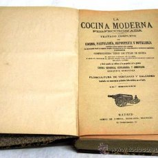 Libri antichi: LA COCINA MODERNA PERFECCIONADA TRATADO COMPLETO COCINA 14 ED SAENZ DE JUBERA HACIA 1900. Lote 15093168