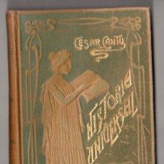 Libros antiguos: HISTORIA UNIVERSAL POR CESAR CANTU. TOMO 23. EDITORES GASSO HERMANOS. BARCELONA. Lote 150757246