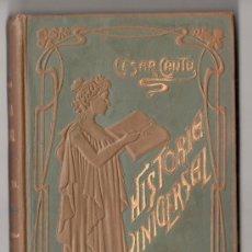 Libri antichi: HISTORIA UNIVERSAL POR CESAR CANTU. TOMO 38. EDITORES GASSO HERMANOS. BARCELONA 1911. Lote 15143743