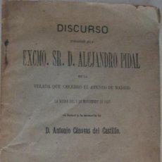 Libros antiguos: CÁNOVAS DEL CASTILLO. ATENEO DE MADRID. 1897. Lote 25420179