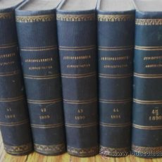 Libros antiguos: 5 TOMOS . JURISPRUDENCIA ADMINISTRATIVA . 1888-89-90-91-92. Lote 15490972