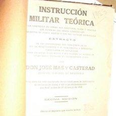 Libros antiguos: 1923 EL UNICO LIBRO PARA EL RECLUTA MAS. Lote 19294073