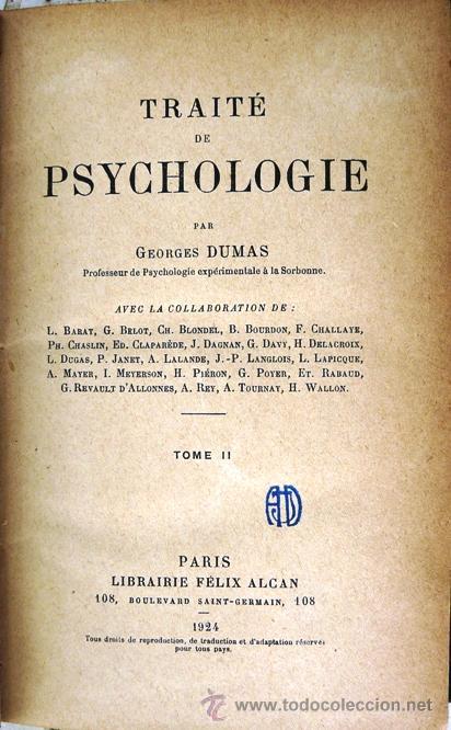 traite de psychologie - george dumas - año 1924 - Comprar en ...